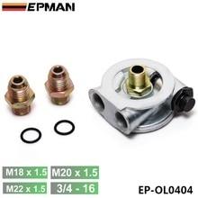 Płyta pośrednia filtra chłodnicy oleju + adapter termostatu (AN10 lub AN8) złączki EP OL0404