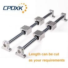 Круглый линейный рельс 12 мм линейный вал 400 мм + линейный подшипник Корпус SCS12UU + линейный рельсовый зажим SK12 для линейной направляющей 3d принтер