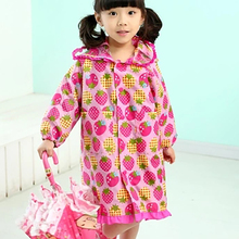 Rainwear Waterproof Children Girl Raincoat Coat Female Ponchos Kids Rain Suit Chubasquero Mujer Overall 50KO107