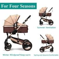 8 в 1 складной четыре колеса коляски для 0 3 лет гарантии Детские коляски каретки коляска (в наличии в России)