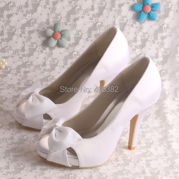 (20 Colors)Hot Selling Satin White Shoes Summer Women Thick Heel for Wedding Size 9