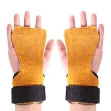 1 пара фитнес безопасности Pad противоскользящие Антикоррозийные рукоятки коврик для защиты рук обмотка для поддержки запястья Перчатки тренировочные аксессуары