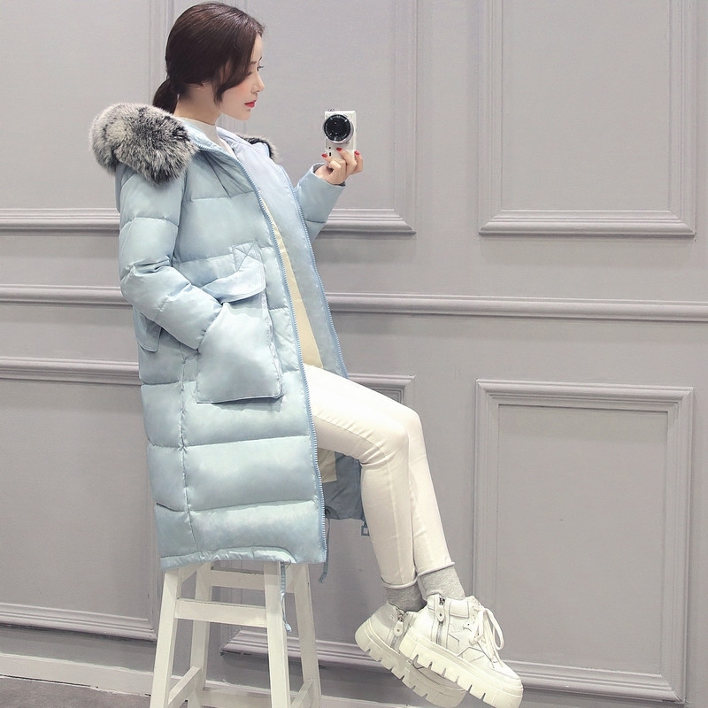 Women's Winter Jacket Oversized Coats Fur Collar Parka Plus Size 4XL Winter Coat Women Hood Long Jacket Female,Manteau Femme