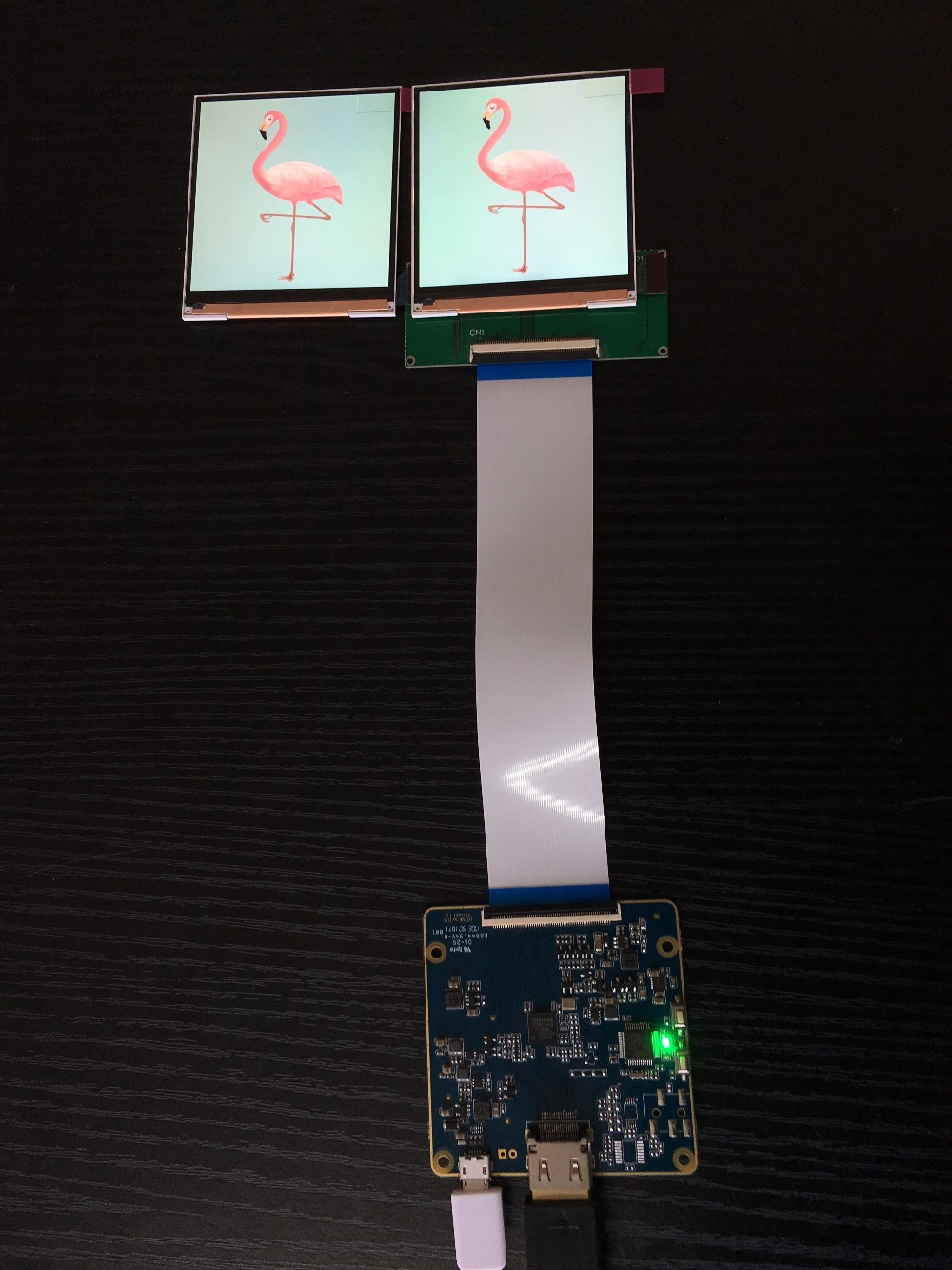3.0 inch square TFT LCD display dual screen 720*720 resolution MIPI interface with HDMI driver board