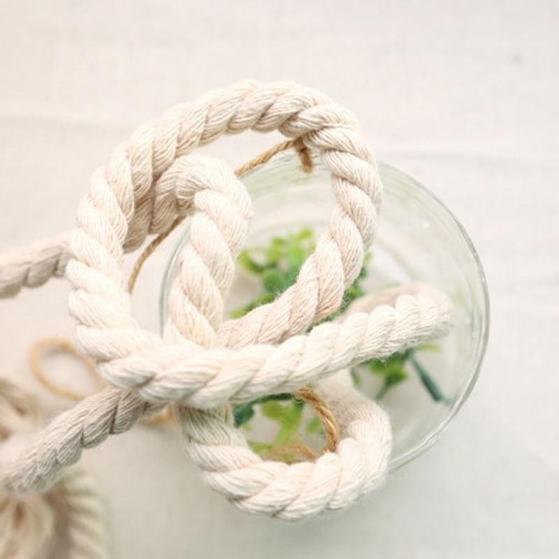 Tkanina Bavlna pletená Twisted Bag Dekorace Lano hrubá 1cm (0.39 '') 10Meter / lot DIY Craft pletené šňůry Handmade Patchwork lano