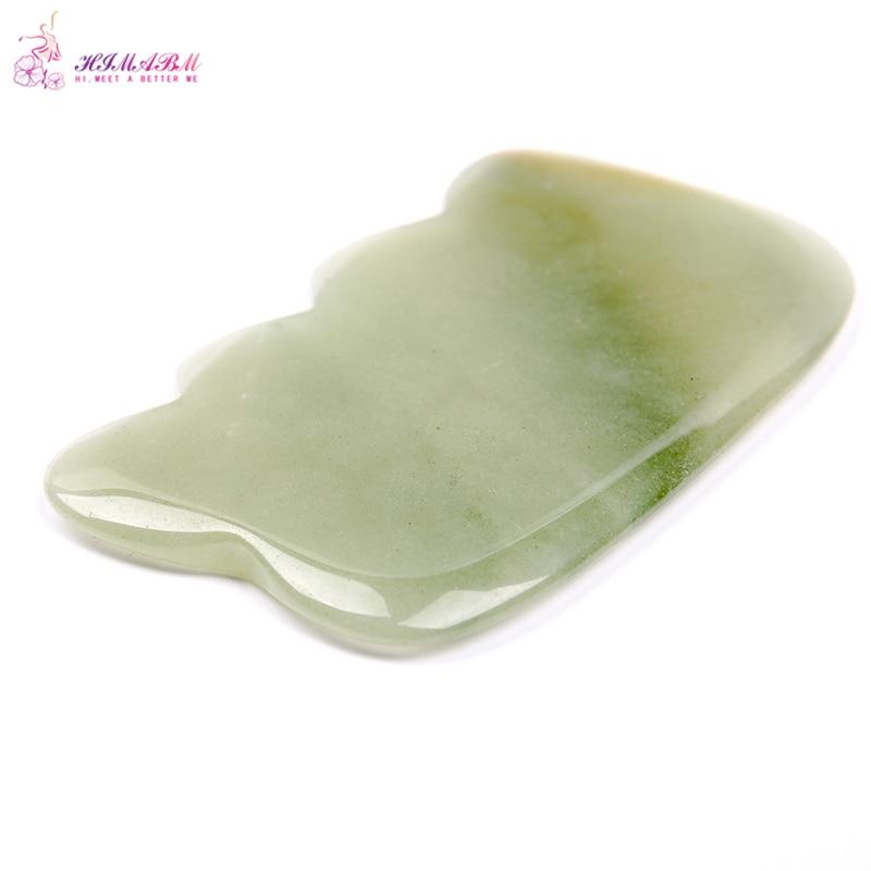 HIMABM 1Pcs natural Green Aventurine Guasha board massage tool facial treatment scraping tool for body health care reiki healing