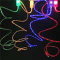 Flowing Luminous Micro USB Cable for iPhone 5 5s 6 6s 6plus 6splus 7 7plus Samsung Running Light Charger Line for Xiaomi Android