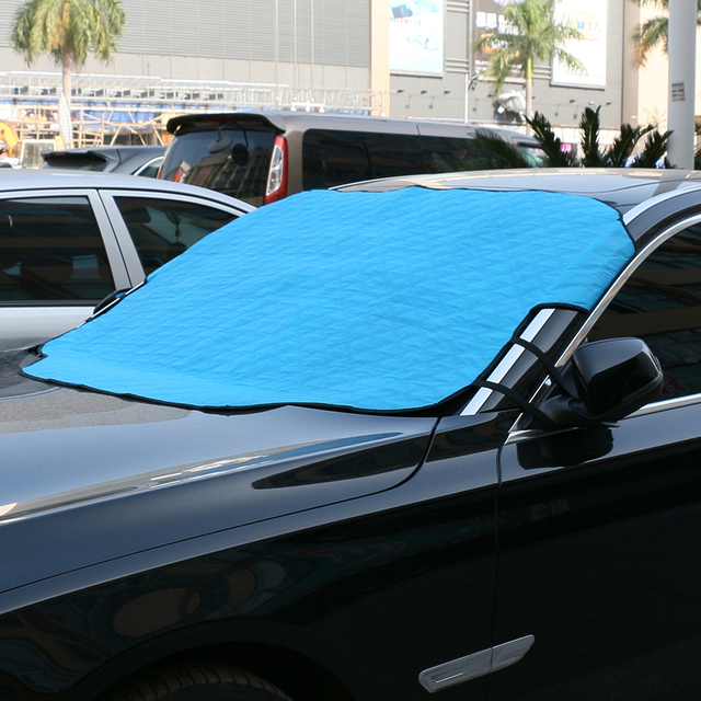 Universal Auto Covers Winter Snow Windshield Cover Ice Frost Hail Protection Protector Car Sun Shade Curtain Blind