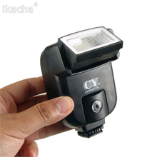 CY-20 Mini Flash Hot Shoe Sync Port Universal Speedlite for Nikon Canon Panasonic Olympus Pentax Sony Alpha Cameras mcoplus 130 led video light photography lamp for canon nikon sony pentax panasonic samsung olympus dv camera camcorder vs cn 126