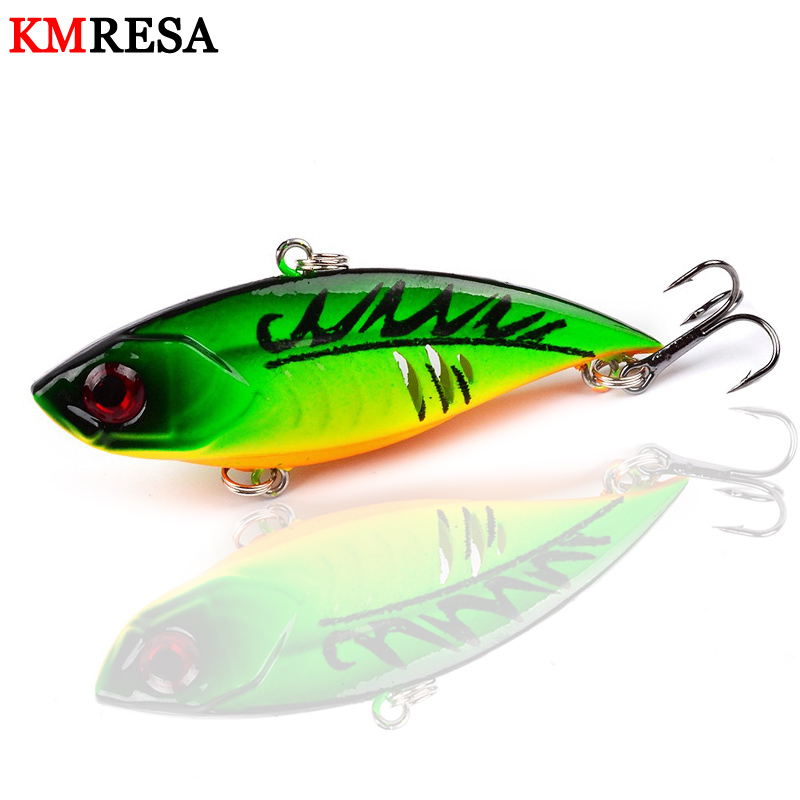 6.5CM//11G VIB Fishing Lures Crankbaits Hooks Minnow Baits Tackle Crank