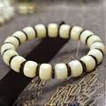 Authentic white Bodhi beads 8-11mm Bracelet jewelry Bodhi beads bracelets for women men coconut flakes christmas gifts 2017 0696