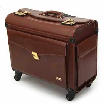 LeTrend 19 inch PU Leather Rolling Luggage Spinner Men Business Suitcase Wheels Carry on Trolley pilot Travel Bags laptop bag