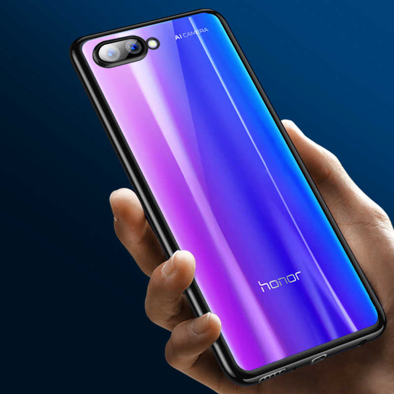 Fashion Soft Clear TPU Case For Huawei Honor 10 8X 9 8 Lite V9 Plating Silicone Cover Fundas For Huawei Nova 3 3E 3i Capa