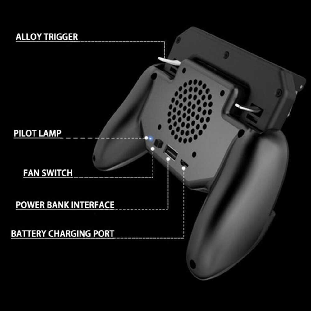 SR2 геймпад PUBG мобильный триггер Управление сотовый телефон Управление Лер L1R1 игровой шутер для Iphone Android джойстик с Вентилятор охлаждения