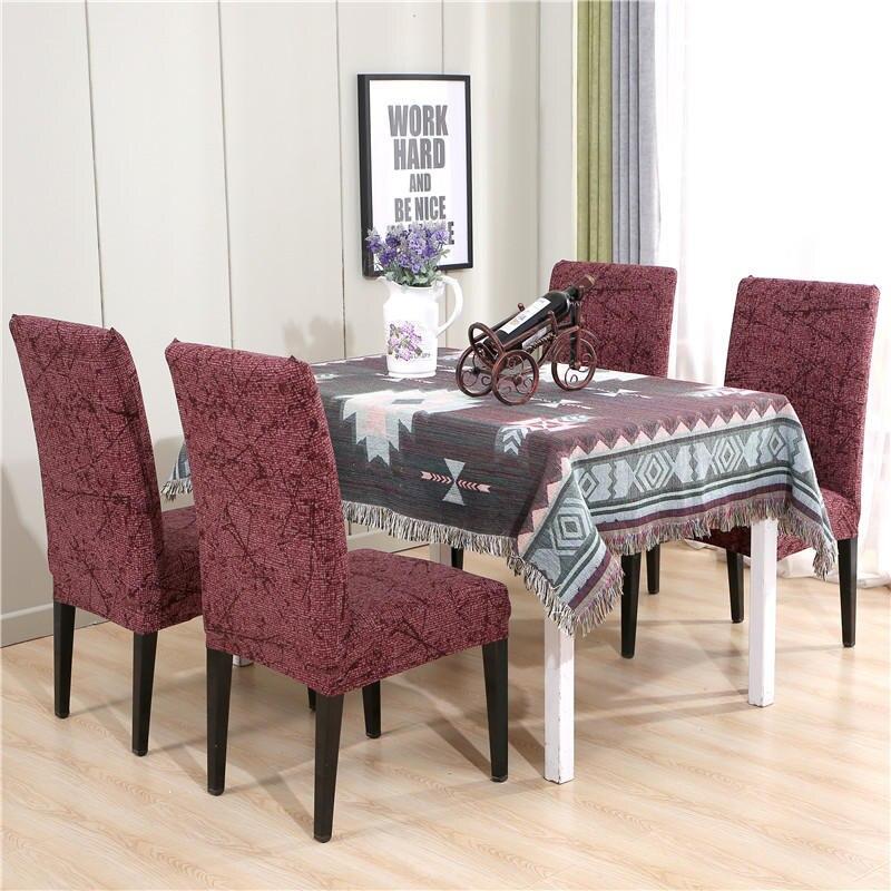 Housse de chaise Spandex pour mariage salle à manger bureau Banquet hôtel impression florale Stretch élastique chaise couvre housse de chaise