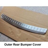 עבור הונדה crv crv איכות גבוהה כרום נירוסטה אחורי Bumper משמר פלייט (Bottom) עבור הונדה CRV CRV 2012 2013 (4)