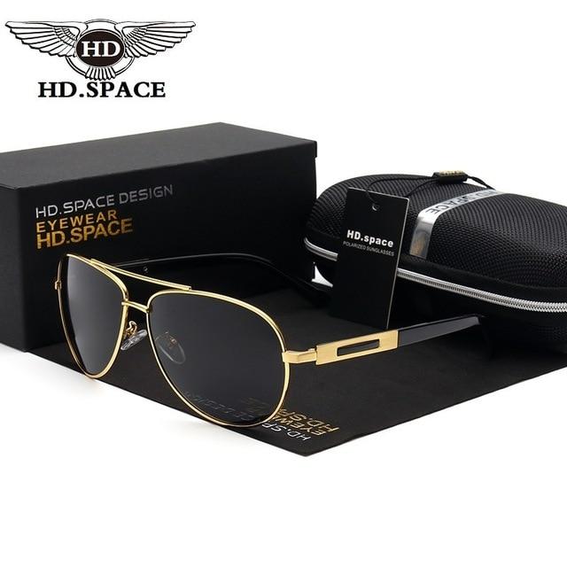 6e8d7fbf45eec HD Classic Frog Glasses Men Polarized Sunglasses Police Pilot Eyewear Male  Fashion Oculos De Sol Top