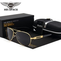 HD Klasik Kurbağa Gözlük Erkekler Polarize Güneş Gözlüğü Polis Pilot Gözlük Erkek Moda Óculos De Sol Üst Kalite Balıkçılık Özellikleri LD015