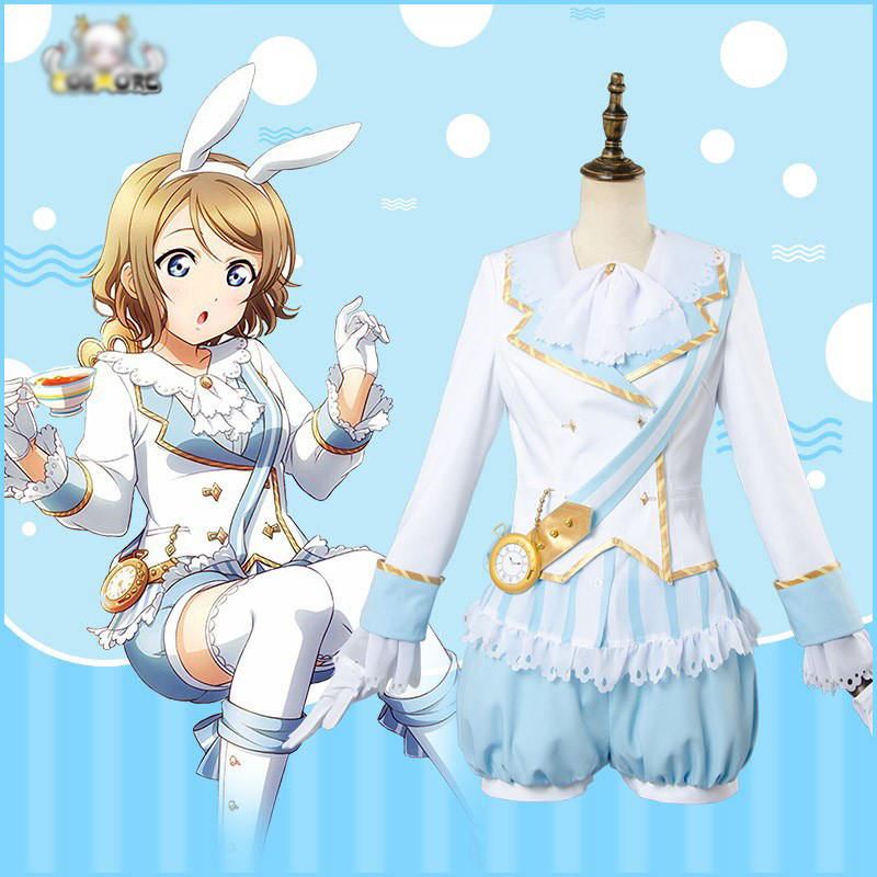 LoveLive Cosplay Aqours You Watanabe Wonderland Alice Cosplay Costume Adult Women Girl Maid Suit Fancy Dress Halloween Costume lovelive love live kunikida hanamaru wonderland alice cosplay costume maid suit dress