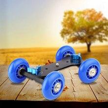 Venda quente quatro-rodas steadicam estabilizador de vídeo dslr câmera filmadora para canon nikon sony gopro hero telefone dslr dv