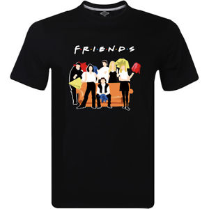 Friends Classic Poster T Shirt 90s TV Show Funny Men's T Shirt Trump Sweat Sporter T-shirt Cool Xxxtentacion Tshirt image