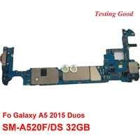 Remplacement d'origine de la carte mère principale déverrouillée pour Samsung Galaxy A5 A7 2017 A520FD A720FD A520F A720F simple et double Sim