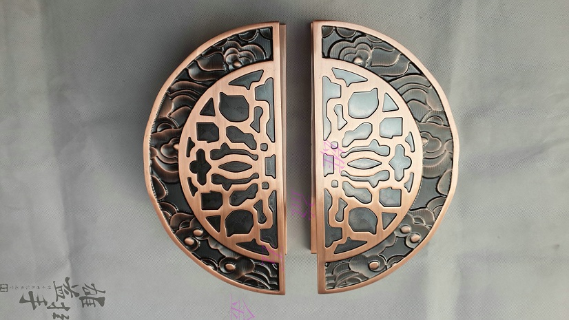 Carving stainless steel door handle modern Chinese antique bronze glass door wooden door handle stock! chinese antique handle stainless steel glass door handle door handle door handle european bronze doors push pull
