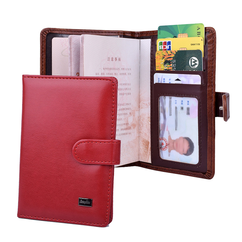 Travel Women Passport Holder Hasp Protector Cover Wallet Men PU Leather Card Credit Organizer Covers Case 250