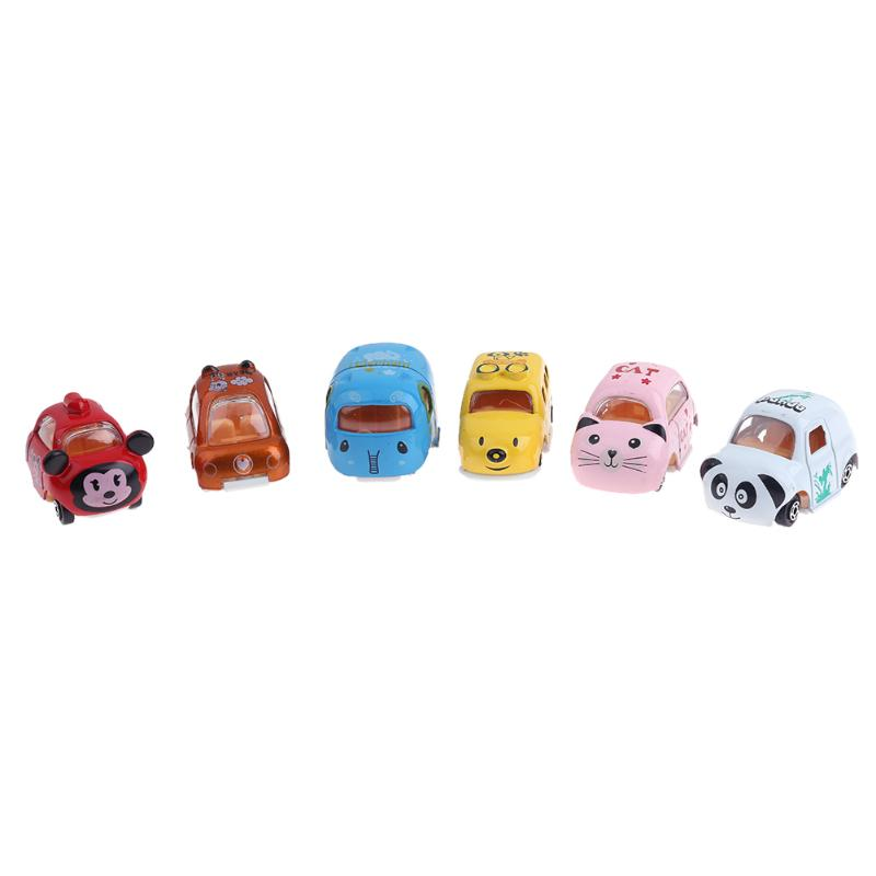 Simulation Cartoon Animals Alloy Car Vehicle Model Mini Car Toy Animal Shape Cars Buses Toy Kids Boys Birthday Gift