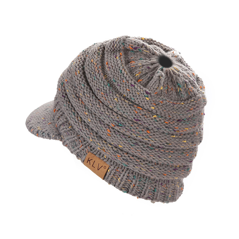 Winter Solid Beanies Knitted Hat female Gorras Bonnet Beanies Warm Baggy Winter Hat Women's winter Cap Women's Skullies Beanies