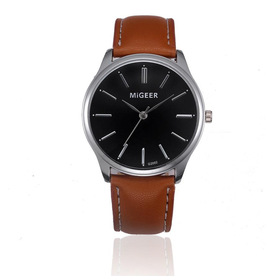 Women Watches Leather Band  Silver Case Wristwatches Digital Sport Leather Band  Clock  Woman    Watch   18MAY17