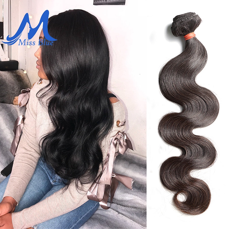 Missblue 10A Mink Quality Brazilian Virgin Hair Bundles Body Wave Grade 10A Raw Human Hair Weave Bundles Extension 1 3 4 P/Lots 4