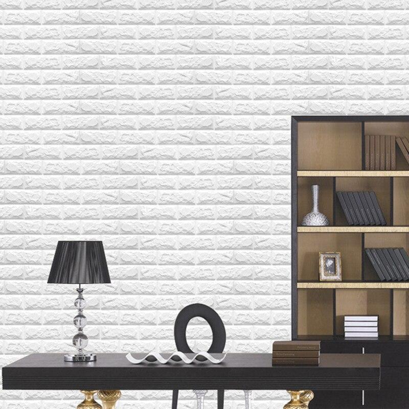 Geprägte 3D Ziegel Wand Papier Moderne Vintage Stein Ziegel Muster ...