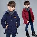 Criança amassado outerwear jaqueta de inverno 2016 das crianças vestuário adolescente meninos espessamento de algodão-acolchoado outono e inverno jaqueta