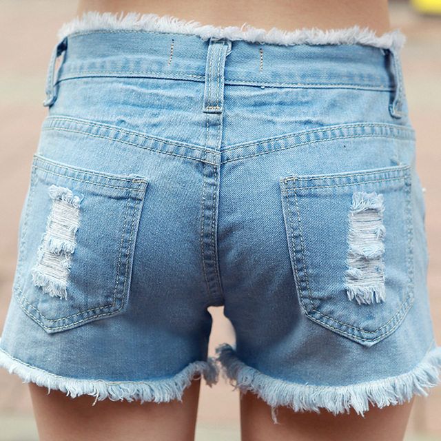 2016 New Women's Denim Shorts Hot Sale Ladies' Short Pants for Women Girls Plus Size 25-34  JN230
