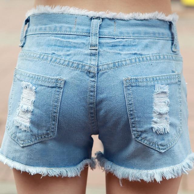 2016 New Women's Denim Shorts Hot Sale Ladies' Short Pants for Women Girls Plus Size 25-34  JN230