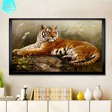 PSHINY 5D DIY diamond embroidery sale tiger Animal Decorative pictures of rhinestones Full Square paintings New arrivals
