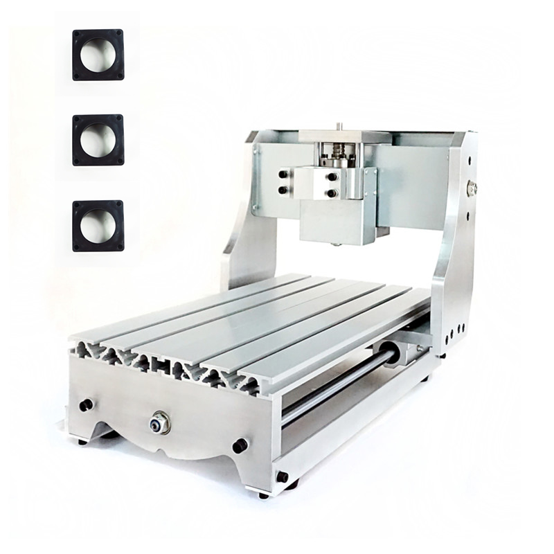 CNC Engraving Machine Frame DIY CNC Suitable wood Router 3020 0.8KW 500W Spindle fixture 52mm diy cnc 3020 frame for desktop cnc engraving machine wood router lathe with trapezoidal screw