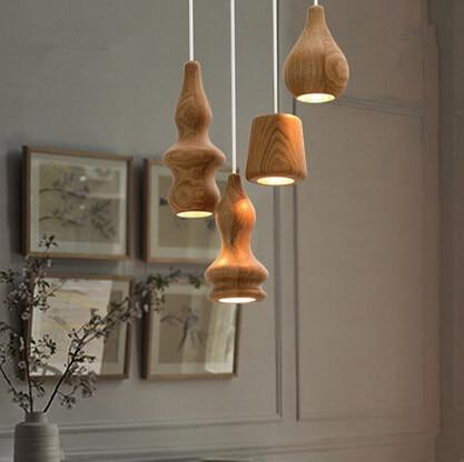 Nordic Wood Creative Simple Loft Industrial Vintage Pendant Lamp For Bar Cafe Dinning Room Gloden Hanging Lamp Lustres De Sala цена и фото