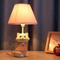 Детская Комната Кошка Настольная Лампа E14 110 В-220 В Переключатель Кнопка Украшения Led Настольная Лампа Свет Исследование Лампы настольные Лампы Исследования