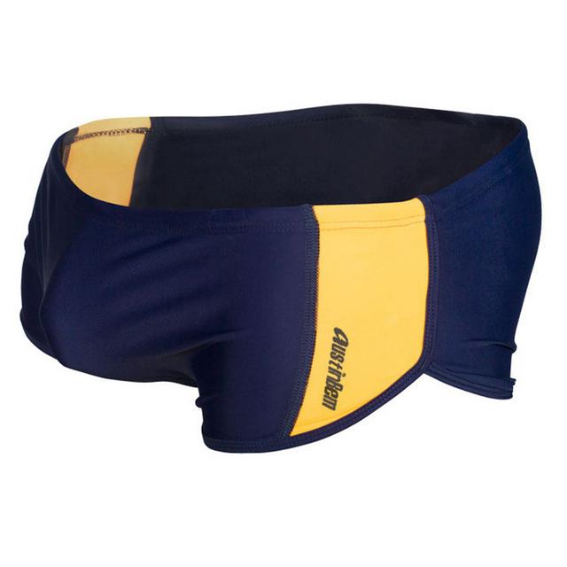 New Nylon Swimming low waist Trunks Fit Boxer Swimwear for men