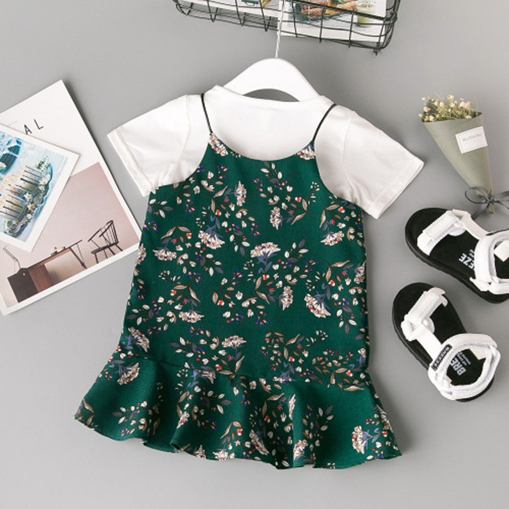 M/&Co Baby Girl Two Piece Long Sleeve Daisy Floral Print Top Full Length Leggings Outfit Set