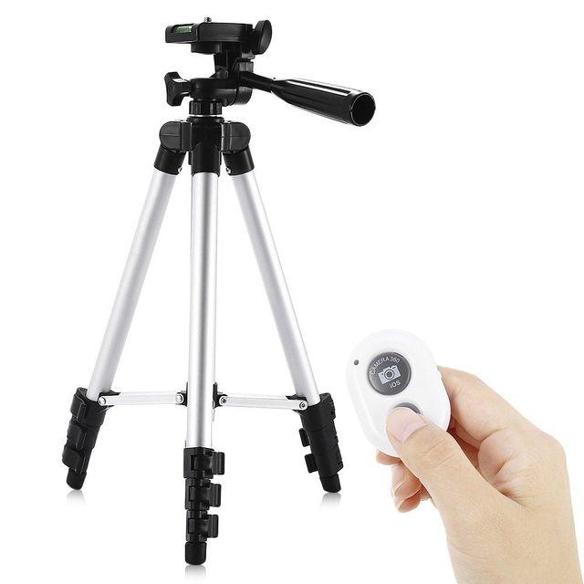 Top Deals HM3110A Camera Camcorder Flexible Three way Head Tripod with Bluetooth 4.0 Remote Controller