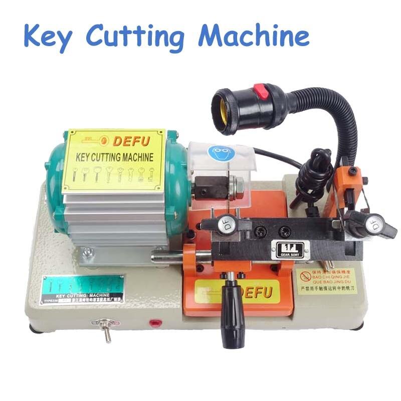 Машина для резки ключей дублированная машина для дверного замка автомобиля ключ копировальная машина для слесарный нож title=
