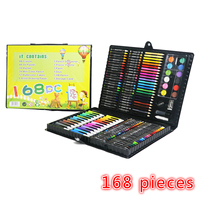 168 New children painting set drawing tool brush elementary water color pen art stationery learning supplies