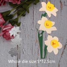 flower Metal steel frames Cutting Dies DIY Scrap booking Photo Album Embossing paper Cards5*12.5cm
