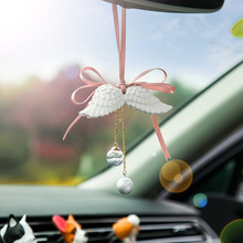 1pc Handmade car pendant decoration creative accessories feather Fashion romance gift Car Ornaments Decoration