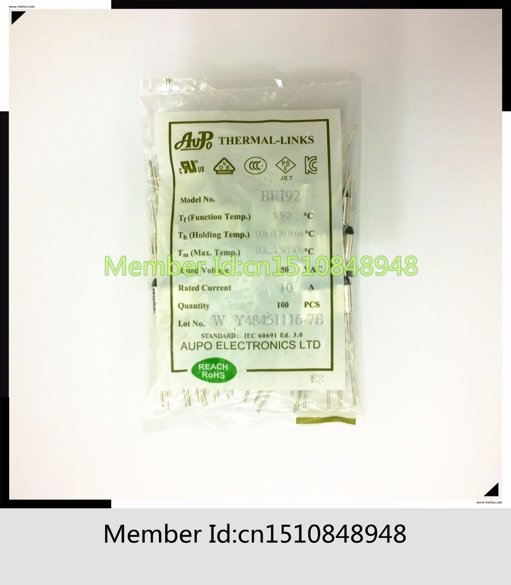 medium resolution of aupo bf192 tf192c 10a 250v 192 degrees aupo thermal fuse