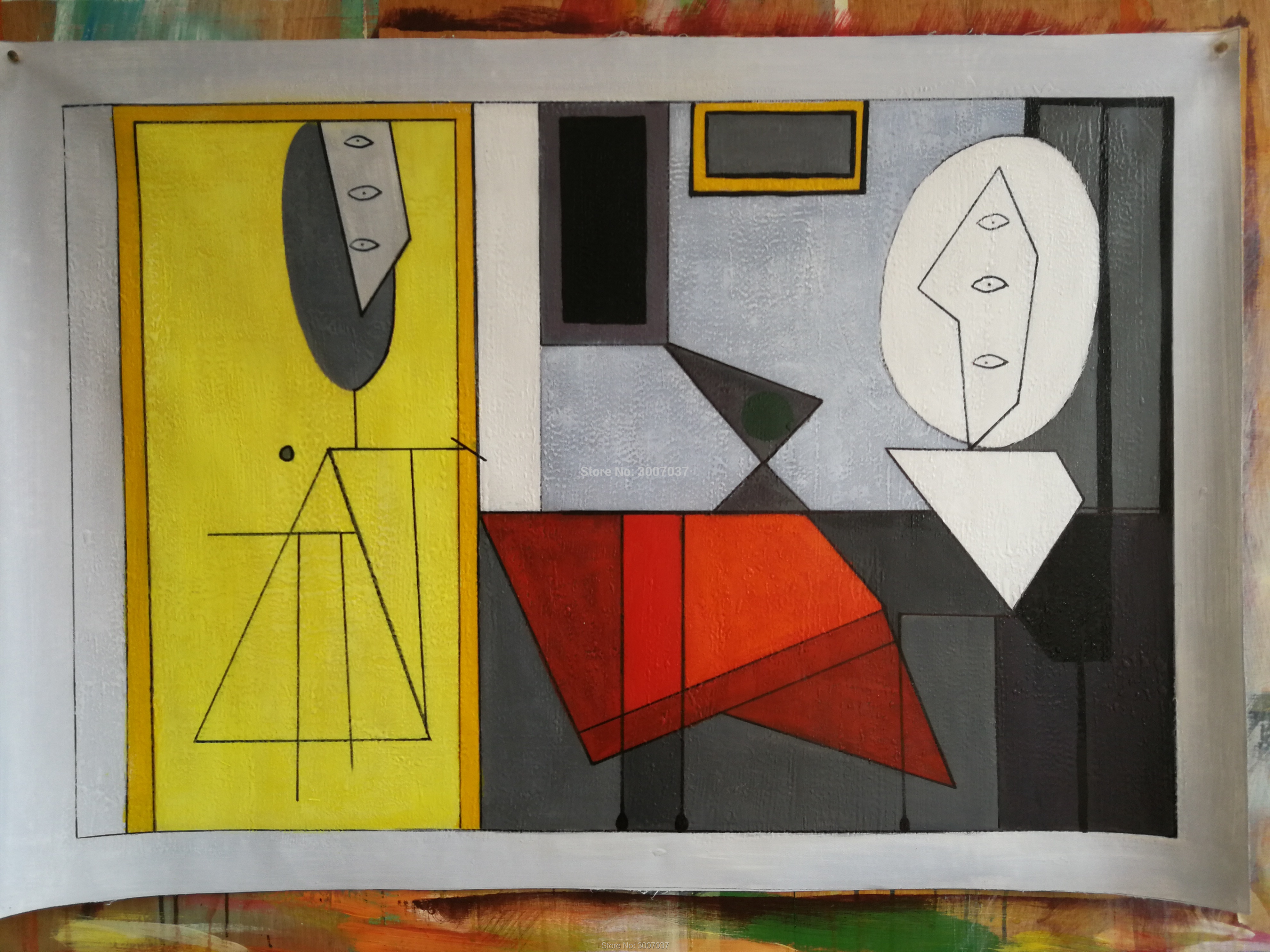 Modern Classic Picasso Framed Canvas Painting - Canvas Paintings Under $10,000