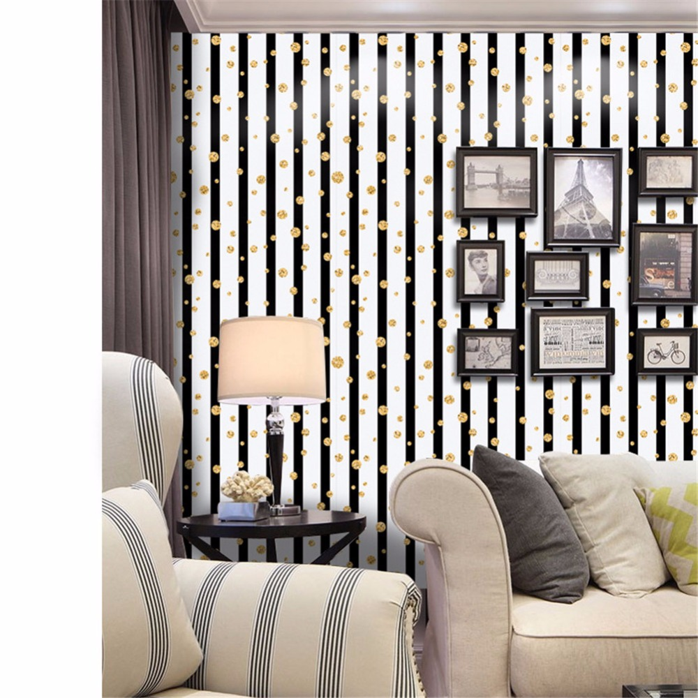 Yanqiao stone 3d stripe with gold balls wall sticker wallpaper peel and stick backsplash easy to install 1pcs set in wall stickers from home garden on